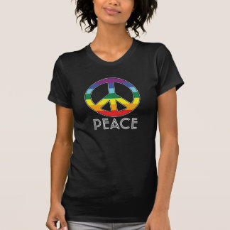 Peace Sign for Flower Power Girls - Black T Shirts