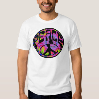 Peace - Tie Dyed Background Tshirt