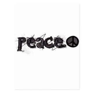 Peace With Symbol Postcard