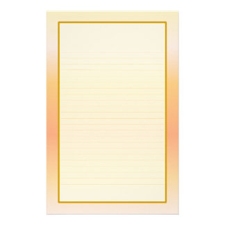 Peach Fine Lined Stationery