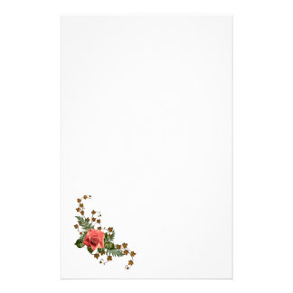 Peach Roses Stationery
