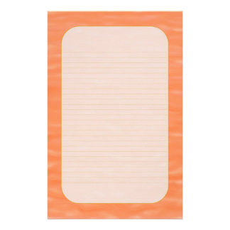 """Peach Sunset Waters"" Fine Lined Stationery"