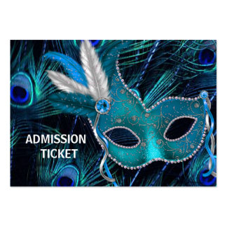 Peacock Masquerade Party Admission Tickets Pack Of Chubby Business Cards