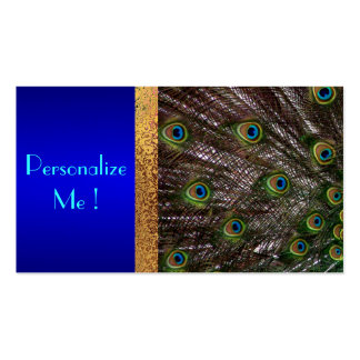 Peacock Save the Date Modern Elegant Chic Bride Pack Of Standard Business Cards