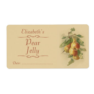 Pear Canning label Shipping Label