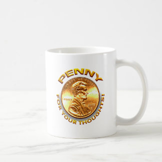 Penny for your thoughts! basic white mug