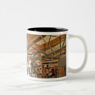 People touring National Museum of Naval Aviation Two-Tone Mug