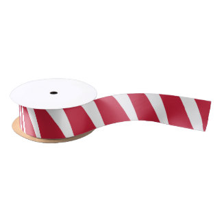 Peppermint Stripe Candy Christmas and Holiday Satin Ribbon