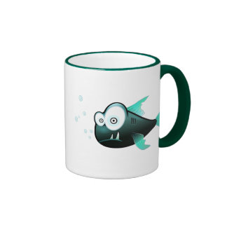 Percy the Piranha Fish Ringer Mug