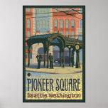 Pergola - Pioneer Square Seattle, WA Travel Poster
