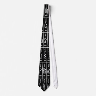 Periodic Table Of Elements on Black Tie