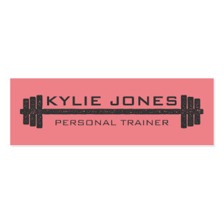 Personal Trainer Fitness barbell weight Pack Of Skinny Business Cards