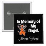Personalise In Memory of My Angel Leukaemia 15 Cm Square Badge