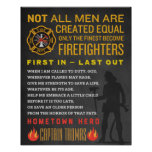 Personalised Fireman Gift. Firefighter Sign. EMT Poster