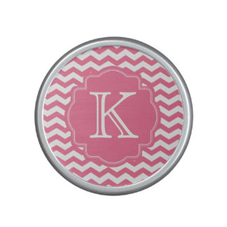 Personalised Pink Chevron Zigzag Monogram Speaker