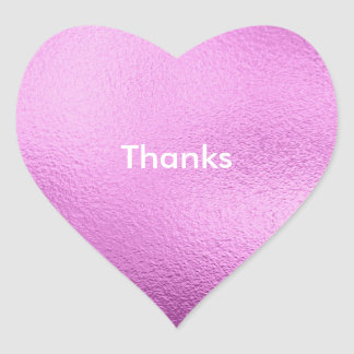 Personalised Pink Simply Heart Stickers, Glossy Heart Sticker