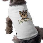 Personalised Yorkie Sleeveless Dog Shirt