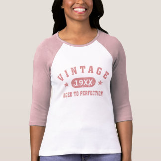 Personalize Pink Vintage Aged to Perfection Shirt