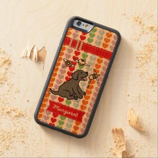 Personalized Black Labrador Ice Cream Dream Cherry iPhone 6 Bumper