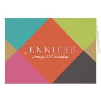 Personalized   Bright Diamonds Birthday Card