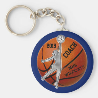 PERSONALIZED Coach and or Basketball Team Gifts Basic Round Button Key Ring