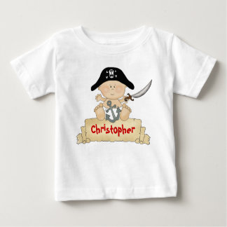 Personalized Cute Baby Pirate Boys Tees