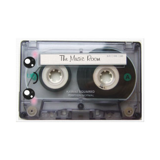 Personalized Cute Kawaii Cassette Tape Stretched Canvas Prints