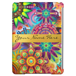Personalized Funky Boho Floral Flame Mandalas