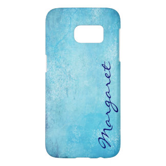 Personalized Gritty Blue Watercolor