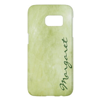 Personalized Gritty Lime Green Watercolor