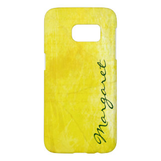 Personalized Gritty Yellow Watercolor