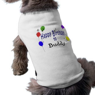 Personalized Happy Birthday to ... Song Sleeveless Dog Shirt