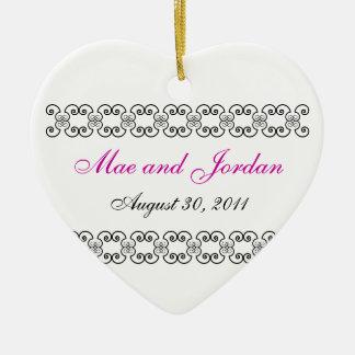 Personalized Heart Keepsake.1 Ceramic Heart Decoration
