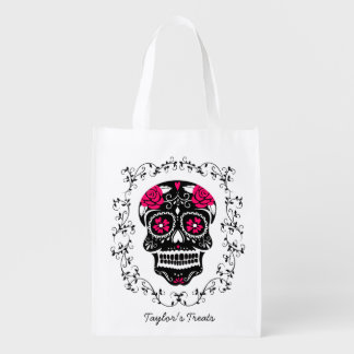 Personalized Hipster Sugar Skull Trick or Treat