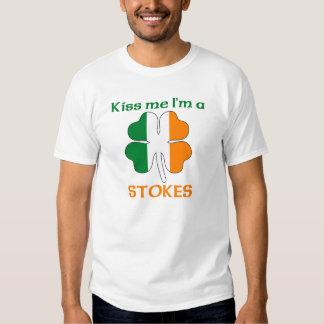 Personalized Irish Kiss Me I'm Stokes Tshirts
