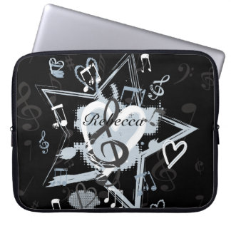 Personalized Musical Star notes designer pattern Laptop Computer Sleeves