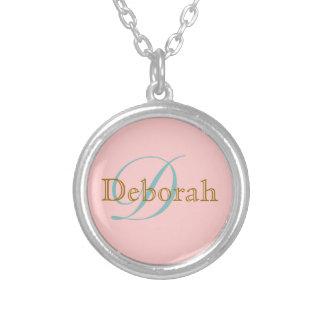 personalized name ~ monogram idea round pendant necklace