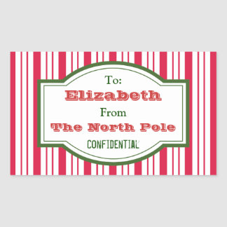 Personalized North Pole Gift Tag Stickers