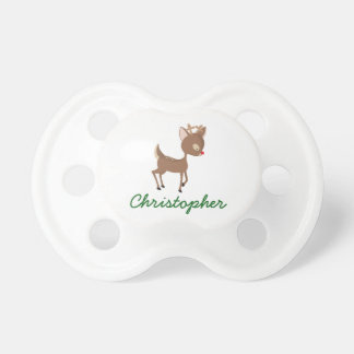 Personalized Rudolph the Red-Nosed Reindeer Pacifier