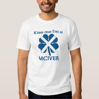Personalized Scottish Kiss Me I'm Mciver T-shirt
