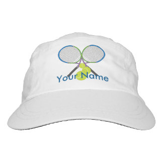 Personalized Tennis Crossed Rackets Hat