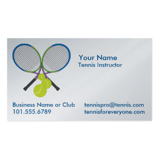Personalized Tennis Crossed Rackets Pack Of Standard Business Cards