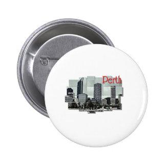 Perth 6 Cm Round Badge