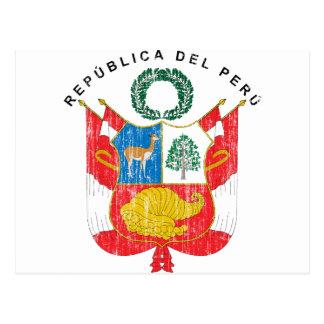 Peru Coat Of Arms Postcard