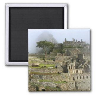 Peru, Machu Picchu. The ancient citadel of Square Magnet