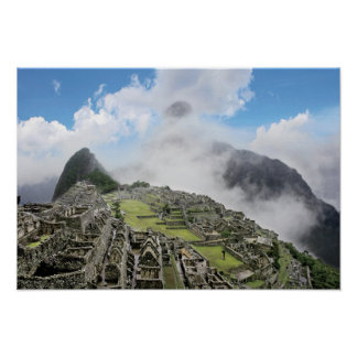 Peru, Machu Picchu, the ancient lost city of 4 Poster