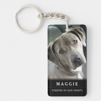 Pet Memorial - Do Not Stand at My Grave Poem Double-Sided Rectangular Acrylic Key Ring