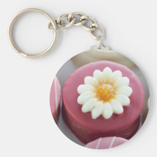Petit Four with Flower Keychain