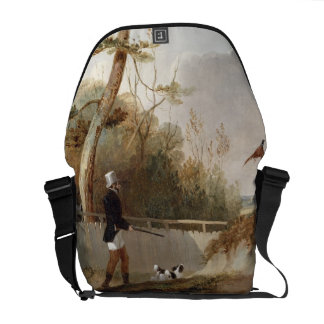 Pheasant Shooting (oil on canvas) Courier Bags
