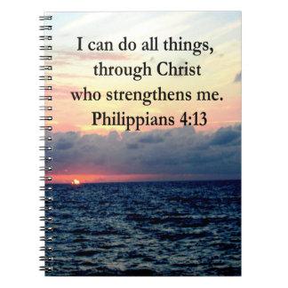 PHILIPPIANS 4:13 SPIRAL NOTE BOOKS